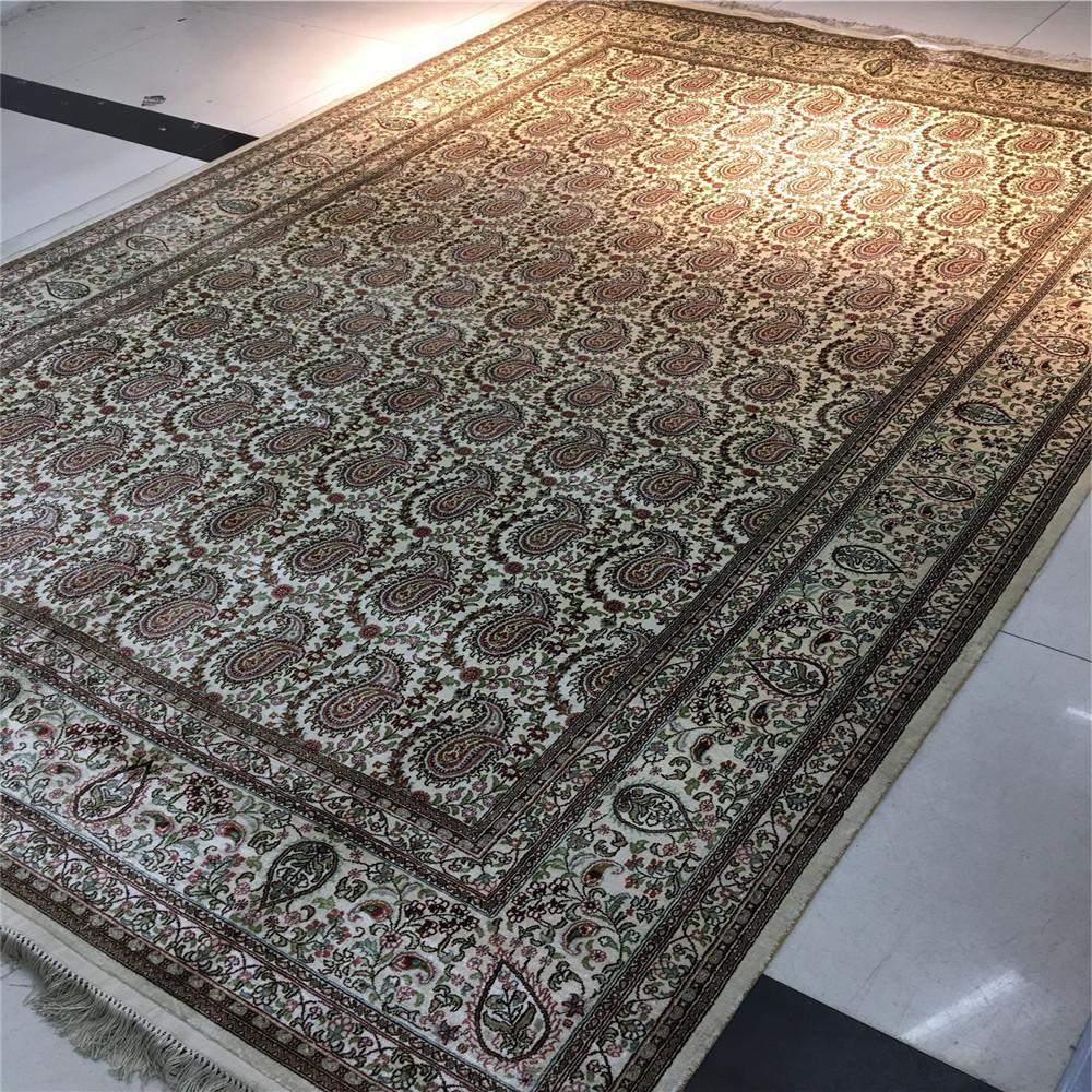 6英呎x 9英呎真絲純手工地毯東方設計圖案客廳臥室書房 3