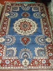 handmade Magic silk carpet-pink bath rug