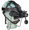 俄羅斯DVS-8分辨率55線每毫米紅外線雙目頭盔式微光夜視儀