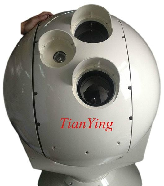 5km-12km human, 7km-20km vehicle, 15km-40km vessel Surveillance Tracking Viewing EO/IR Thermal Camera System