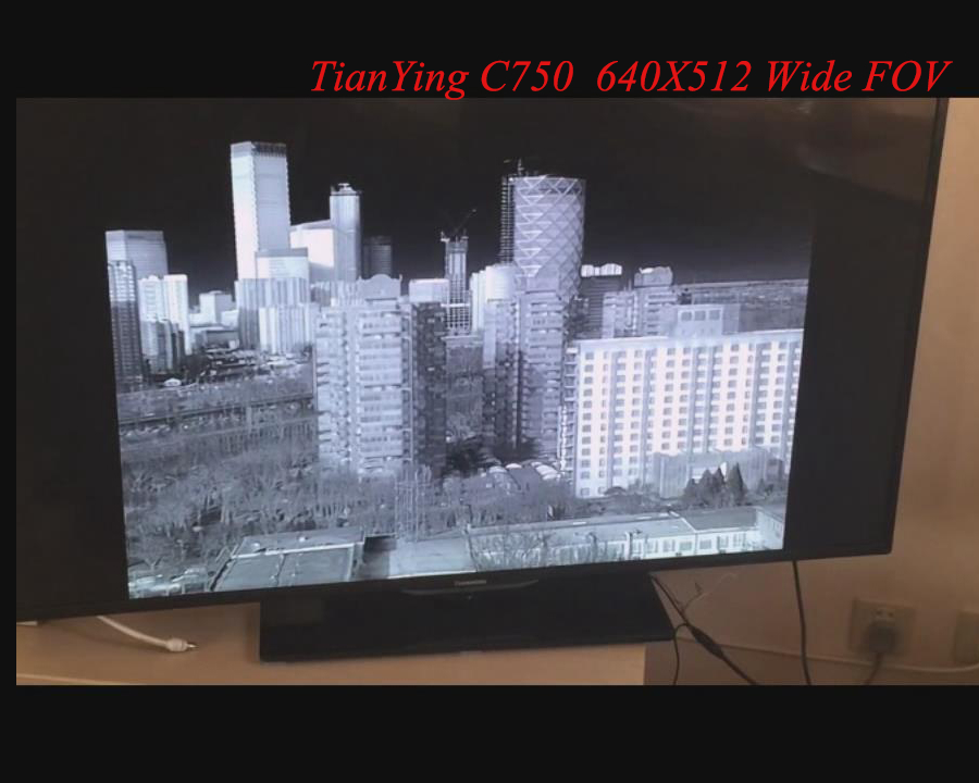 640x512 MWIR Cooled Thermal Imaging Core Camera Module with 750mm focus three FOV Lens - Wide FOV