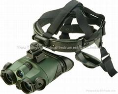 白俄羅斯玉昆海盜1x24第一代紅外線雙目頭盔微光夜視儀