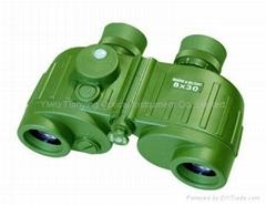 Sentinel 8x30C Compass Range Finder Military/LE/Marine Binoculars