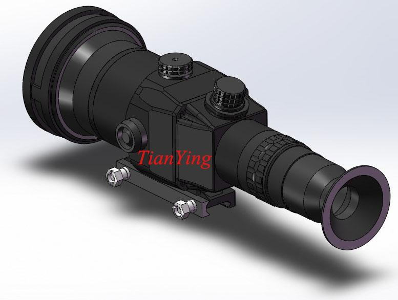 640x512 90mm Lens 1200m Sniper Thermal Weapon Sight Night Vision Rifle Scope