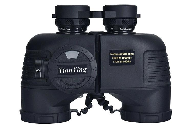 Stabilized Compass 7x50C Military Marine Binoculars of Range Finder - black