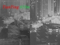 thermal imaging working distance contrast night vision working distance, show human image size is very small and especially night vision