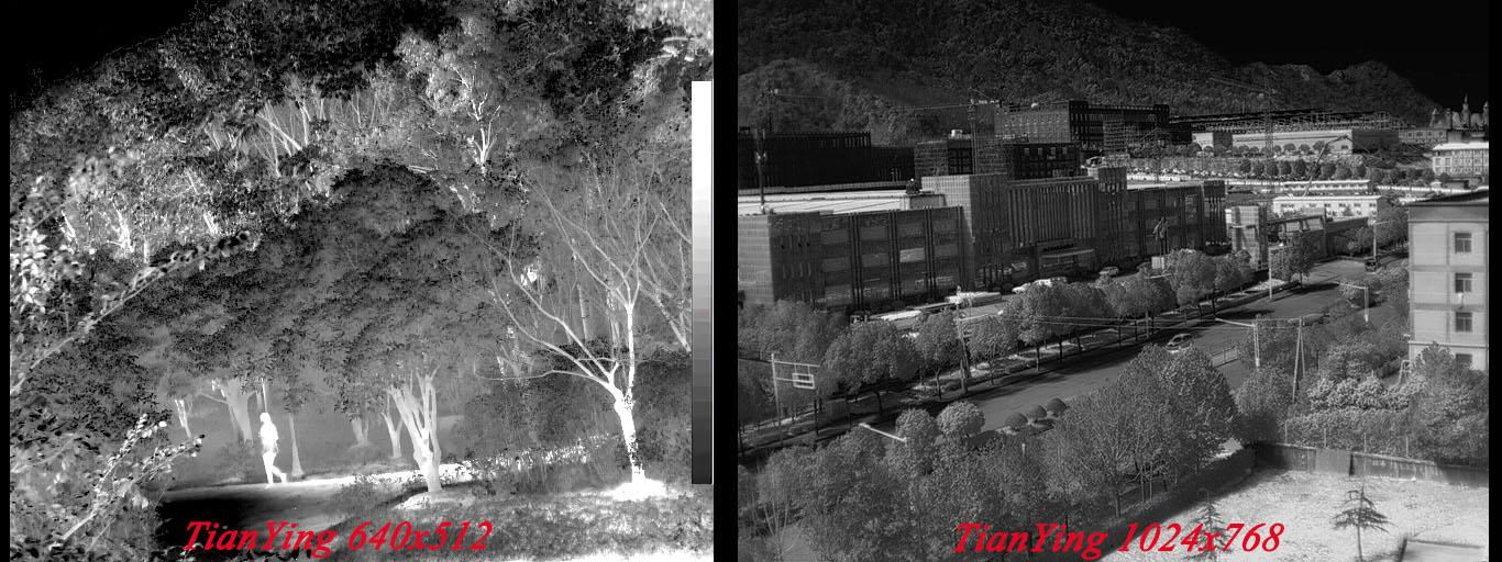 TianYing thermal camera 640x512 image and 1024x768 image