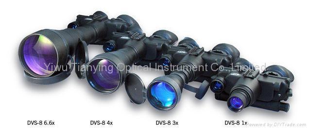 俄羅斯DVS-8分辨率55線每毫米紅外線雙目頭盔式微光夜視儀 -3