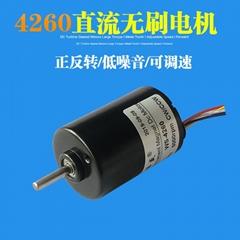 755直流无刷电机12V/24V内置驱动刹车电机4260正反转调速无刷马达