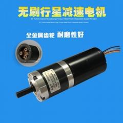 无刷行星减速电机12V微型小马达正反转调速电机24V慢速低速电动机