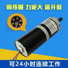36mm无刷行星减速电机3650调速正反转马达12v24v带刹车和电流保护