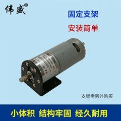 37GA555直流齿轮减速电机12V正反转调速马达24V微型慢速减速电机