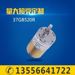 厂家直销37GB520R直流齿轮减速电机12V微型直流电机24V正反转调速马达