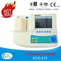 12 channel ECG machine with touch LCD