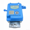 Disinfection needle burner with infusion tube cutter