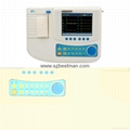 12 channel ECG machine with touch LCD screen,built-in battery,thermal printer