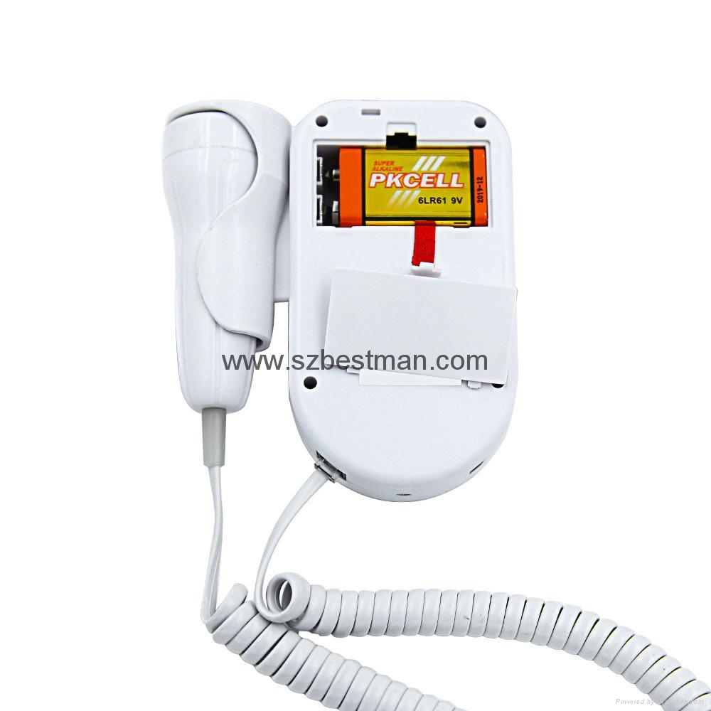 BSM CE/FDA Pocket Fetal Doppler BF-500D+ bluetooth LCD screen    4