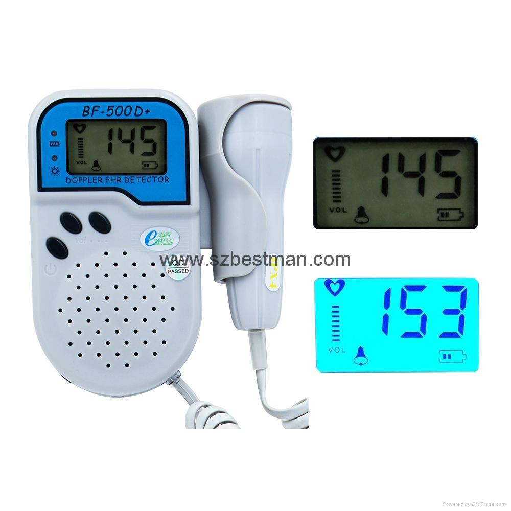 BSM CE/FDA Pocket Fetal Doppler BF-500D+ bluetooth LCD screen    6