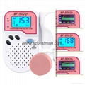 Mini fetal doppler with Bluetooth mobile app detect baby heart rate