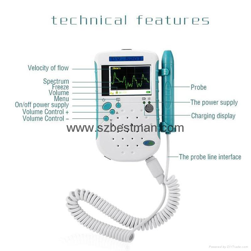 BSM CE Pocket Vascular Doppler BF-520TFT Home Use   8