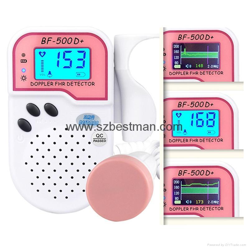 ultrasound portable  fetal Doppler BF-500D+ 3