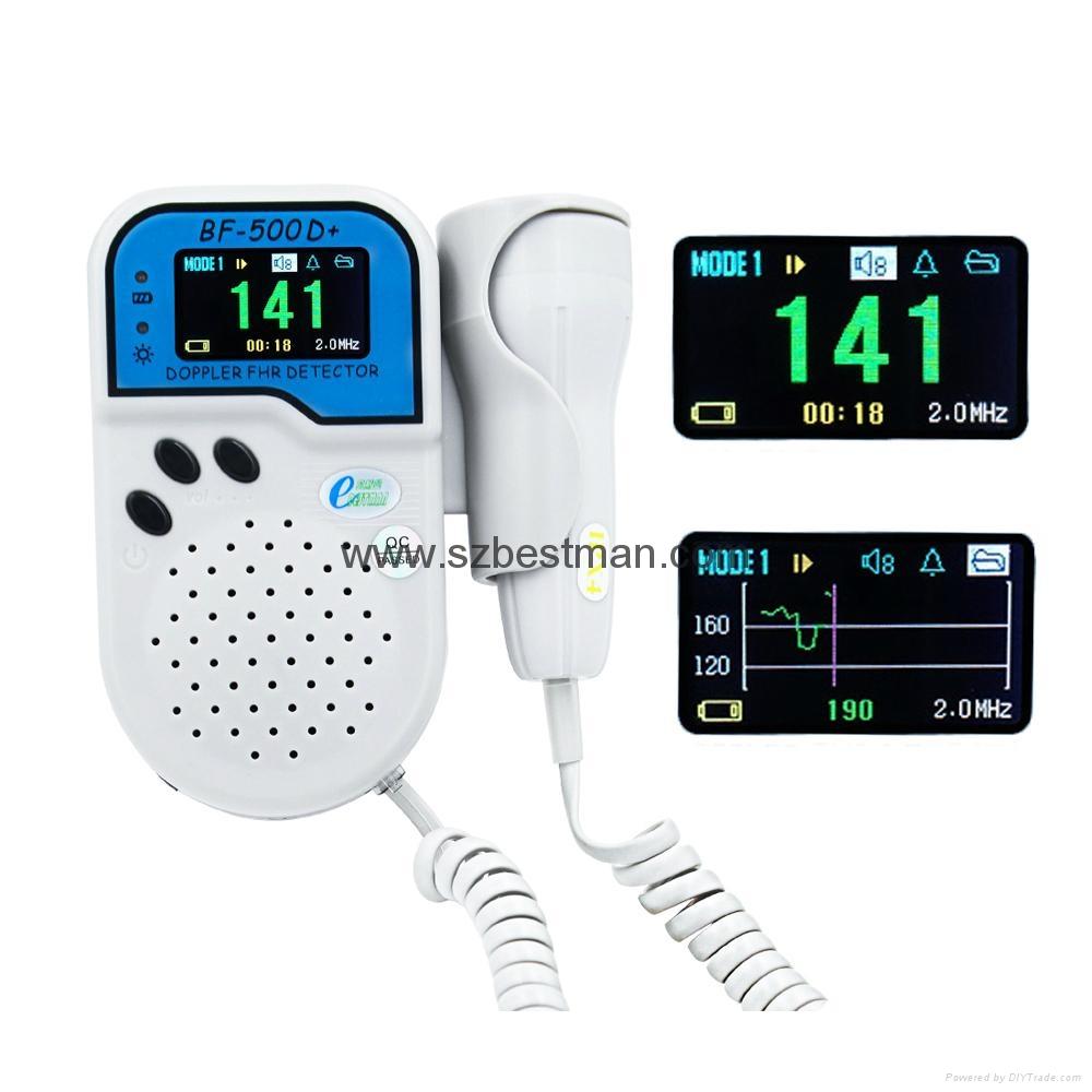 Bestman CE Pocket Fetal Doppler BF-500D+ ( TFT ) Home Use     2