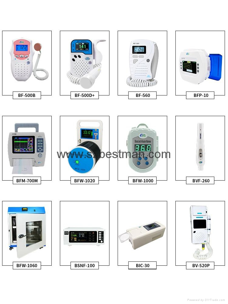 Bestman CE Pocket Fetal Doppler BF-500D+ ( TFT ) Home Use     11