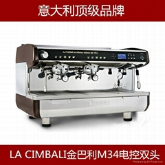 新款金巴利M34双头商用意式咖啡机 高端咖啡机
