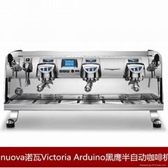 諾瓦Arduino黑鷹三頭半自動咖啡機商用專業開店專用