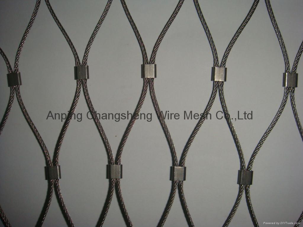 扣结不锈钢丝绳网 1