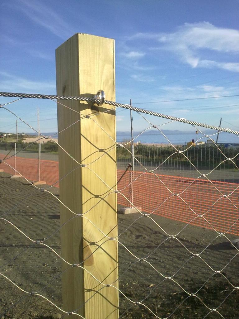 扣結不鏽鋼絲繩網 4
