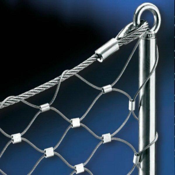扣结不锈钢丝绳网 5