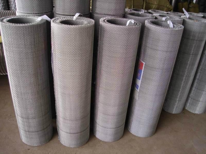 高碳钢轧花网 5