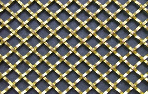Flat Wire Diamond Crimped wire Grille 1