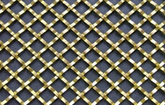 Flat Wire Diamond Crimped wire Grille