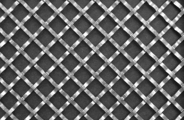 Flat Wire Diamond Crimped wire Grille 2