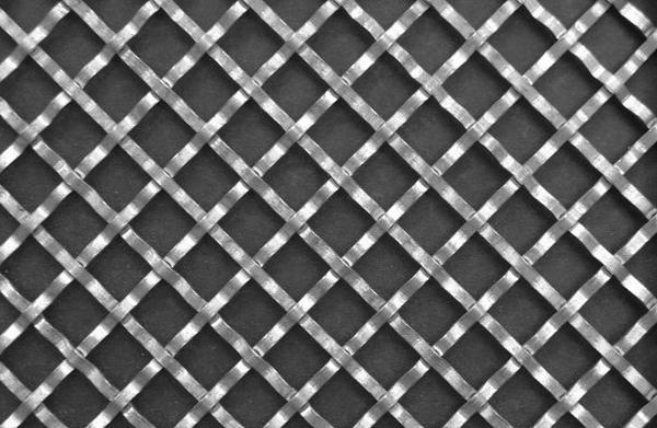 Flat Wire Diamond Crimped wire Grille 2