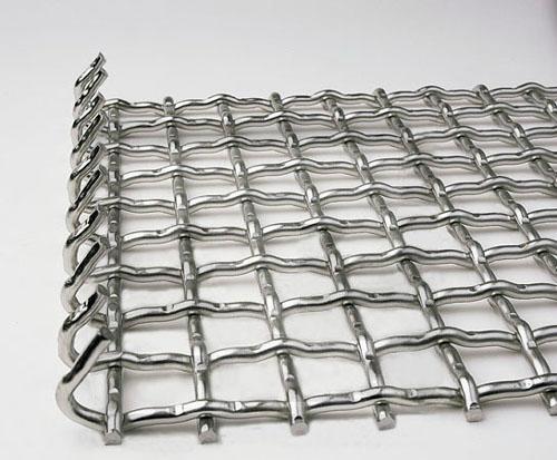 不锈钢带勾轧花网 1