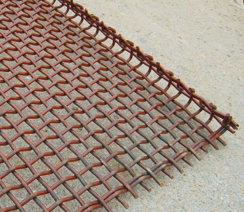 不锈钢带勾轧花网 2
