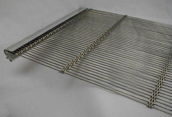 不锈钢带勾轧花网 4