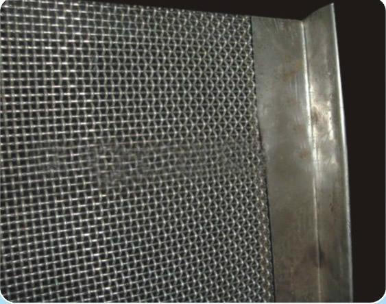 不锈钢带勾轧花网 5