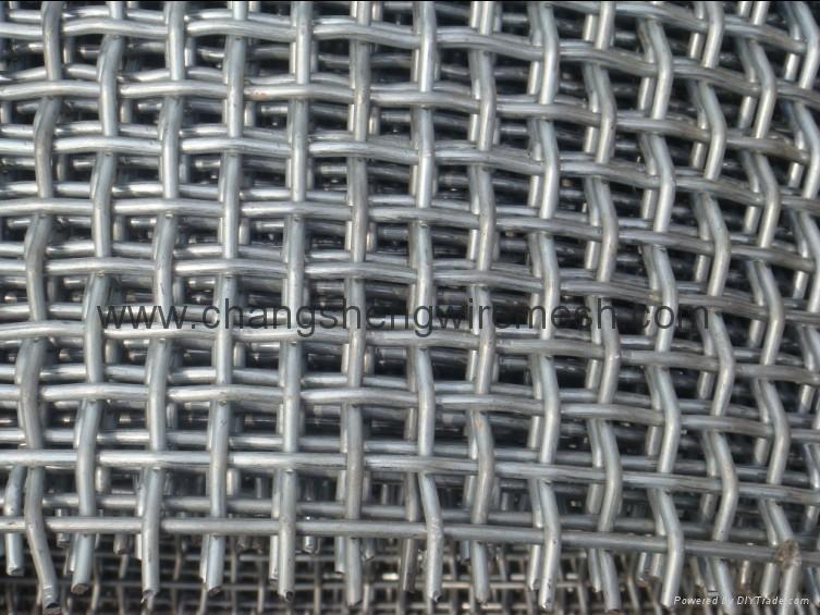 高碳钢轧花网 1