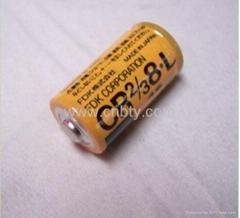 日本富士FDK 鋰電池 CR2/3 8.L (CR17335) CR2/3A  CR123A  2000mAh 高容量