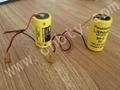 GE Fanuc BR-CCF1TH  BR-C +JAE Connector 3V 5000mAh Lithium Battery