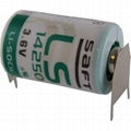France SAFT Lithium Battery LS14250 3PF  1100mAh 3.6V 1⁄2 AA-size