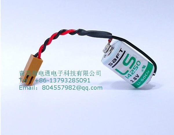 SAFT法国LS14250  锂电池 3.6V 1100mAh ½AA-size 加JAE插头 1