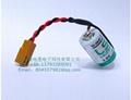 SAFT法国LS14250  锂电池 3.6V 1100mAh ½AA-size 加JAE插头 3