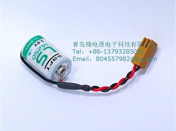 SAFT法国LS14250  锂电池 3.6V 1100mAh ½AA-size 加JAE插头 2