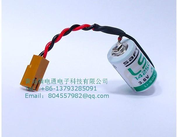 SAFT法国LS14250  锂电池 3.6V 1100mAh ½AA-size 加JAE插头 5