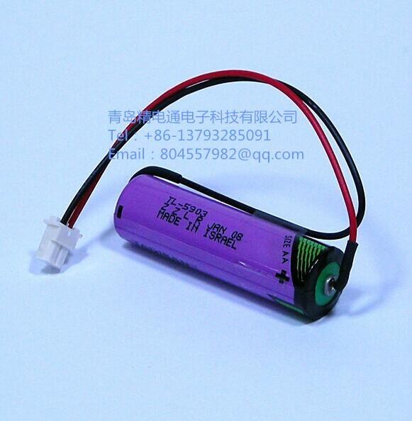 以色列TADIRAN塔迪兰TL-5903 加插头  3.6V 2400mAh AA 锂电池 1
